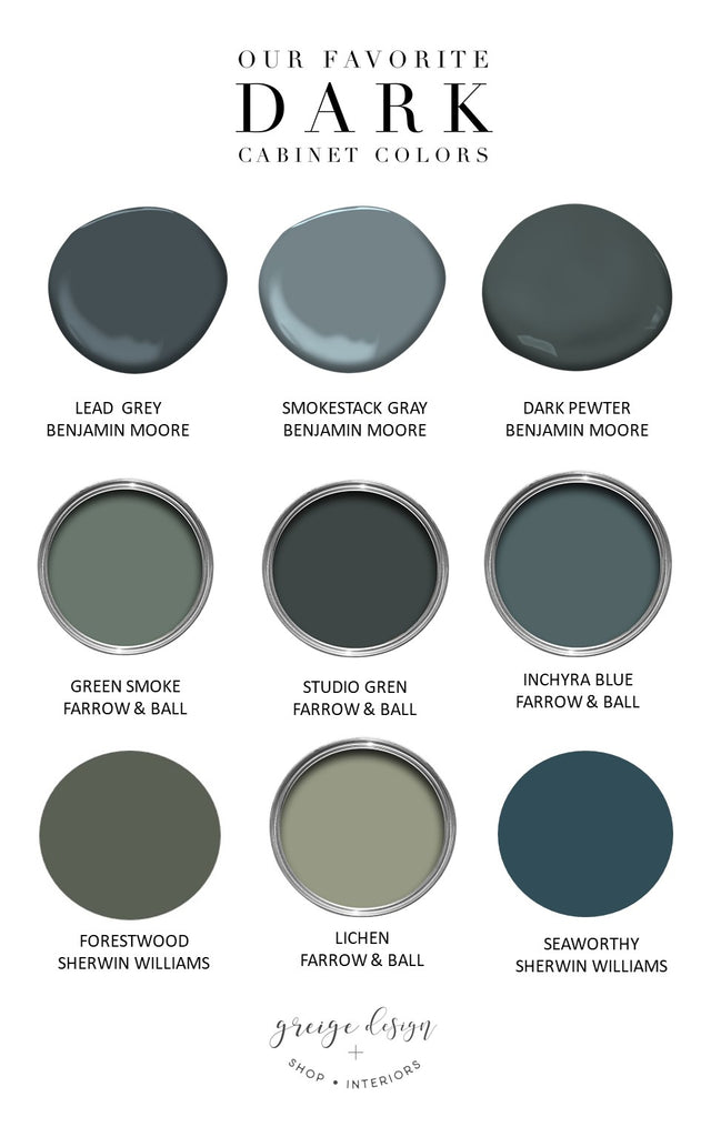 greige design shop + interiors dark cabinet colors blue and green kitchen design Mudroom