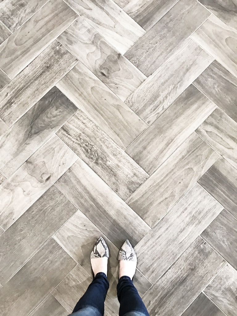 Our favorite wood look tile greige design for Tile and hardwood floor