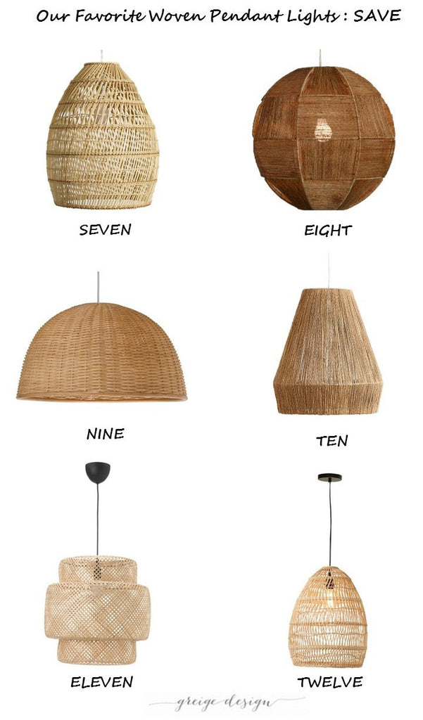 Our Favorite Woven Pendant Lights Greige Design