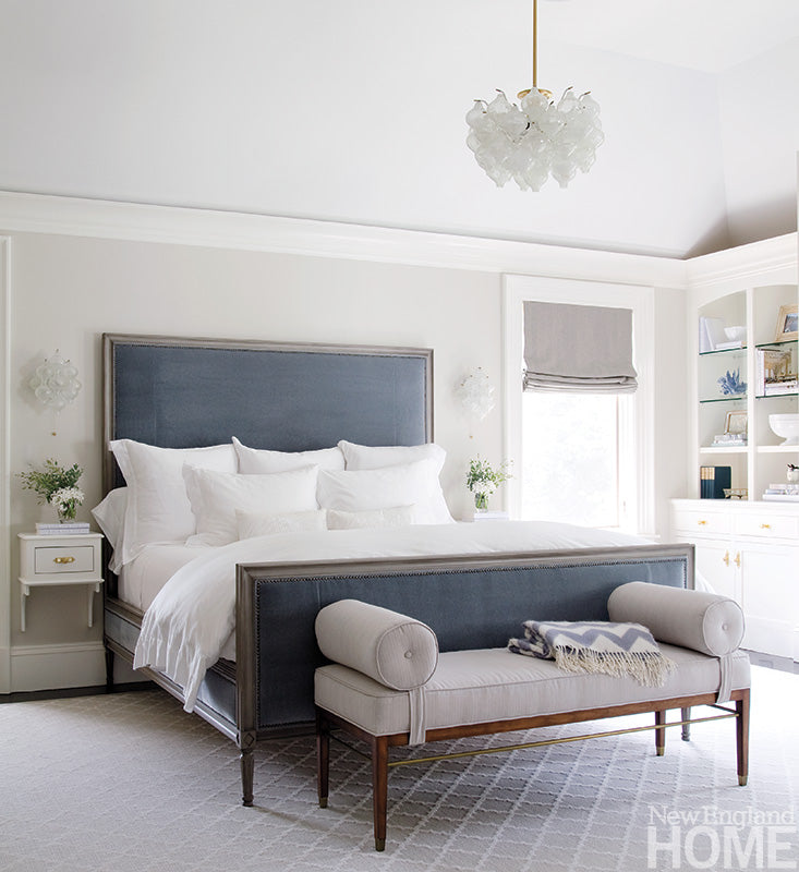 Grey and blue in the bedroom... - greige design