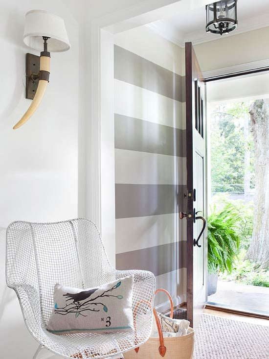 Grey Stripes Greige Design