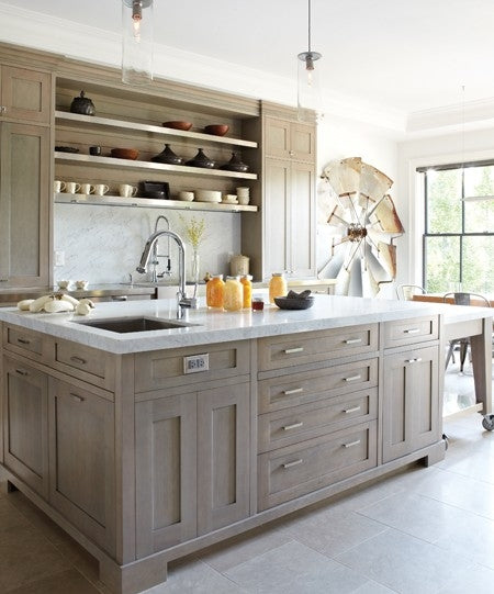 Silver Fox Paint Kitchen: The Kitchen Island..
