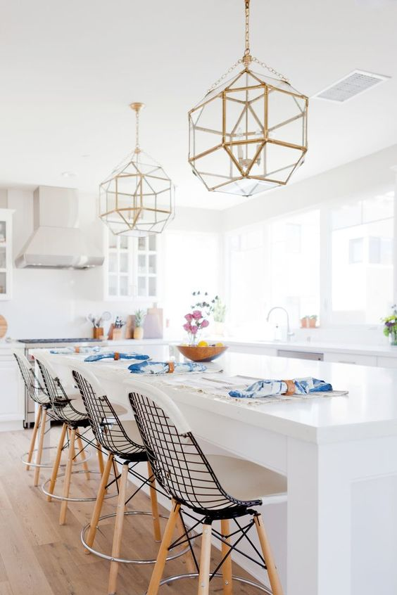 Should I Do Brass Pendant Lights In The Kitchen Greige Design - Kitchen pendant lighting brass