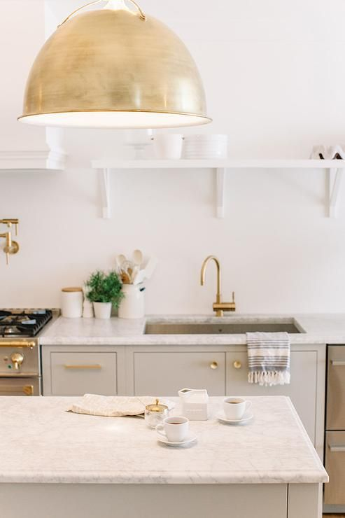 Should I Do Brass Pendant Lights In The Kitchen Greige