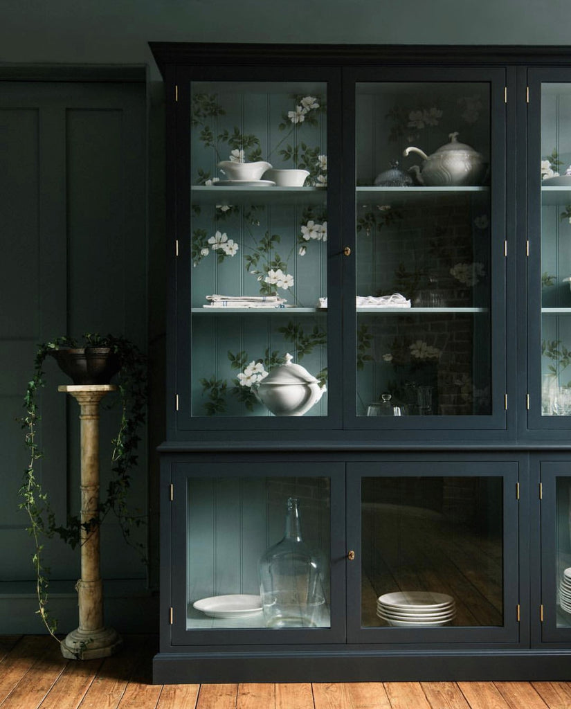 Instagram round up greige design shop + interiors blog black painted walls dark grey cabinet Devol kitchen dark interiors