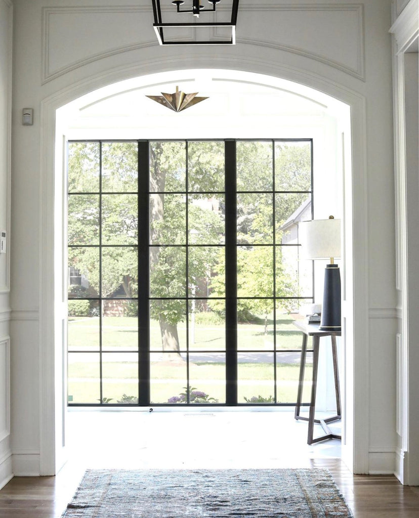 park and oak design iron windows