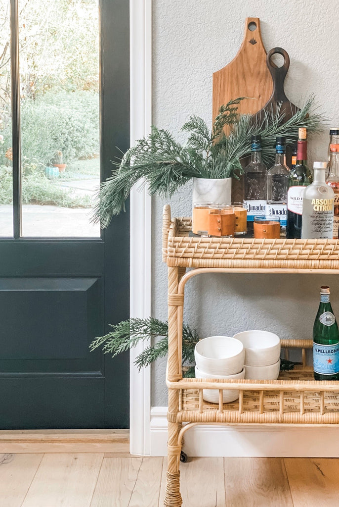 All The Things Bar Cart Essentials And The Serena Lily Thank You Ev Greige Design