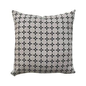 CanCan pillow Black on Oatmeal