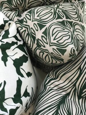 Trina Fabric emerald on natural