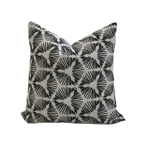 Cie pillow Pepper on Oatmeal linen greige textiles greige design shop + interiors