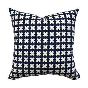 Felix pillow Indigo on Oyster