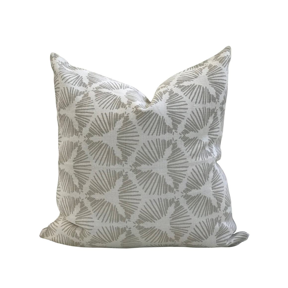 Cie pillow Heron on Oyster greige textiles linen greige design shop + interiors
