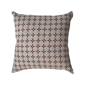 CanCan pillow Burnt Orange on Oatmeal