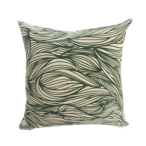 Trina Pillow in Emerald on natural