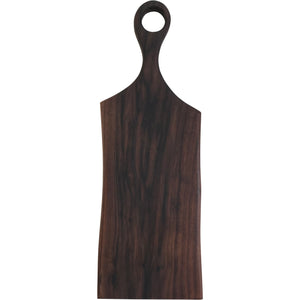 "handmade walnut serving board with handle 24"" long made in california"