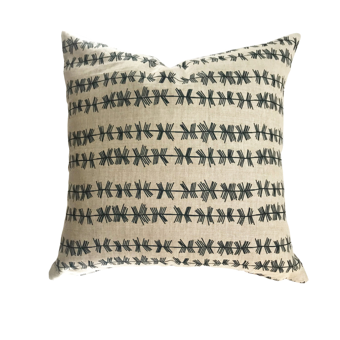 Stick stripe pillow in Dublin on Oatmeal