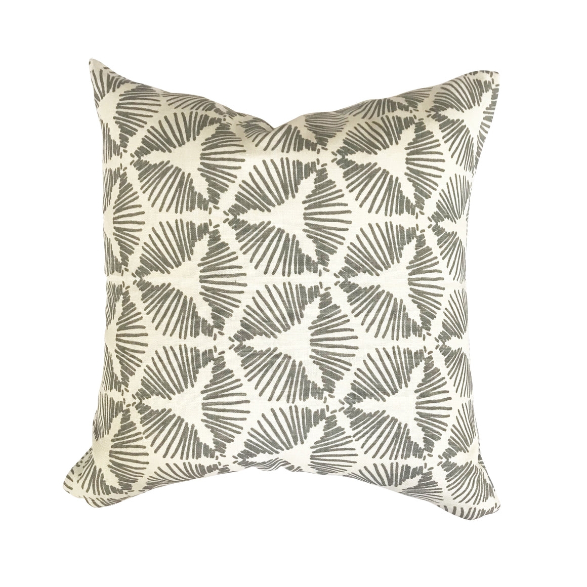 Cie pillow Dove on Oyster greige textiles