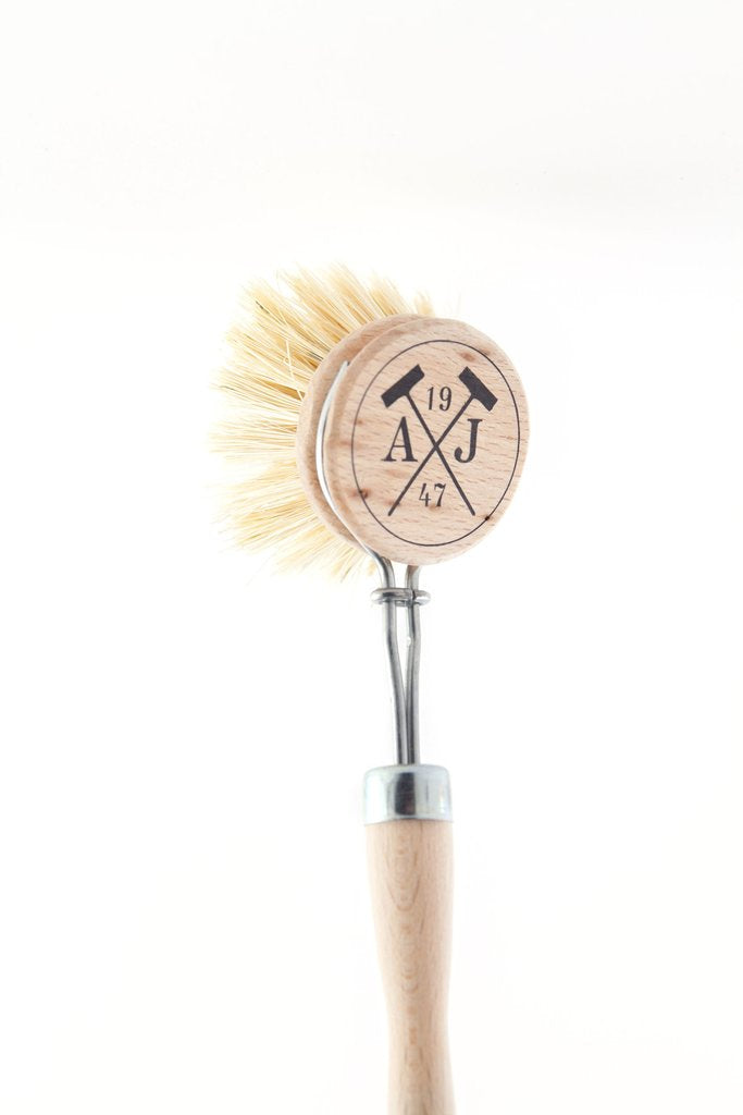 Andrée Jardin Handled Dish Brushes beech wood greige design shop + interiors
