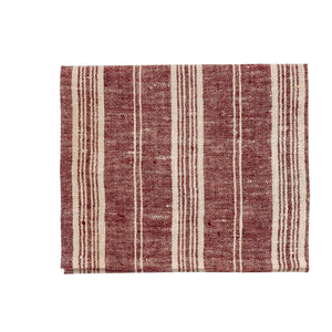 Linen Multistripe hand towel Cherry