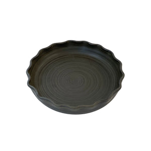 RV Pottery Pie Plate Black