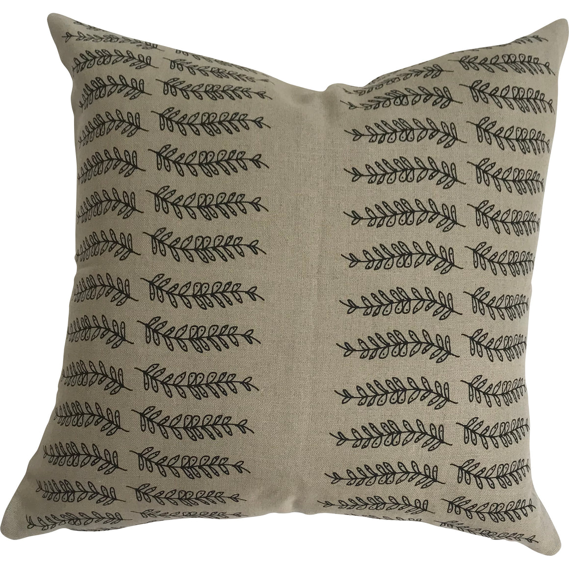 Fern Stripe pillow Black on Natural