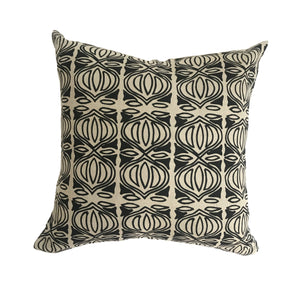 Holiday pillow Black on Natural