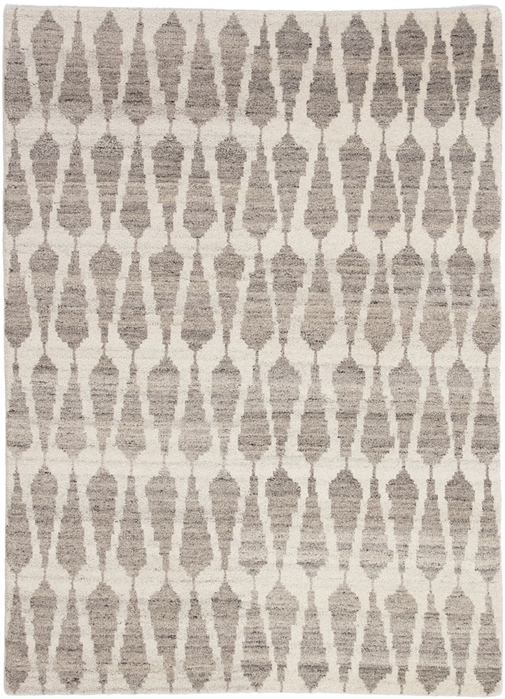 Azland hand-knotted area rug whitecap gray fallen rock Indian wool no backing greige design shop + interiors