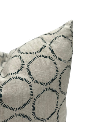 Cape pillow in Dublin on Oatmeal linen greige textile greige design shop + interiors