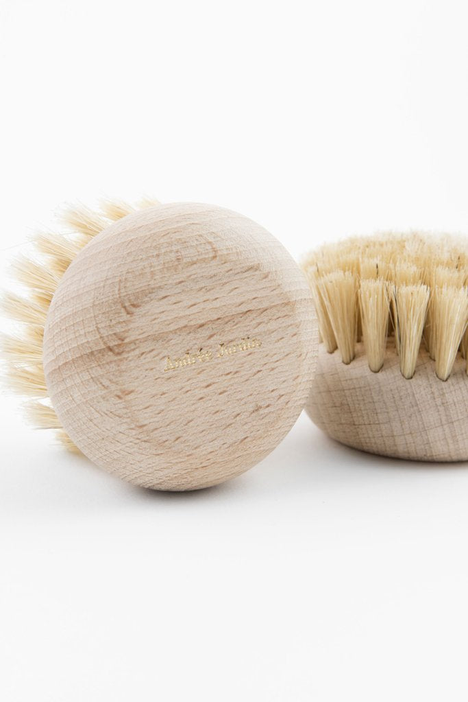 Andrée Jardin Beech Wood Body Brush dry body brush greige design shop + interiors