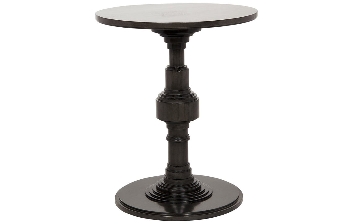 Mahogany apollo side table pale finish greige design shop + interiors