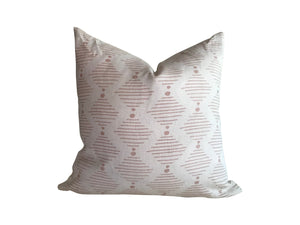 Hinkley pillow in Lipgloss and Oyster