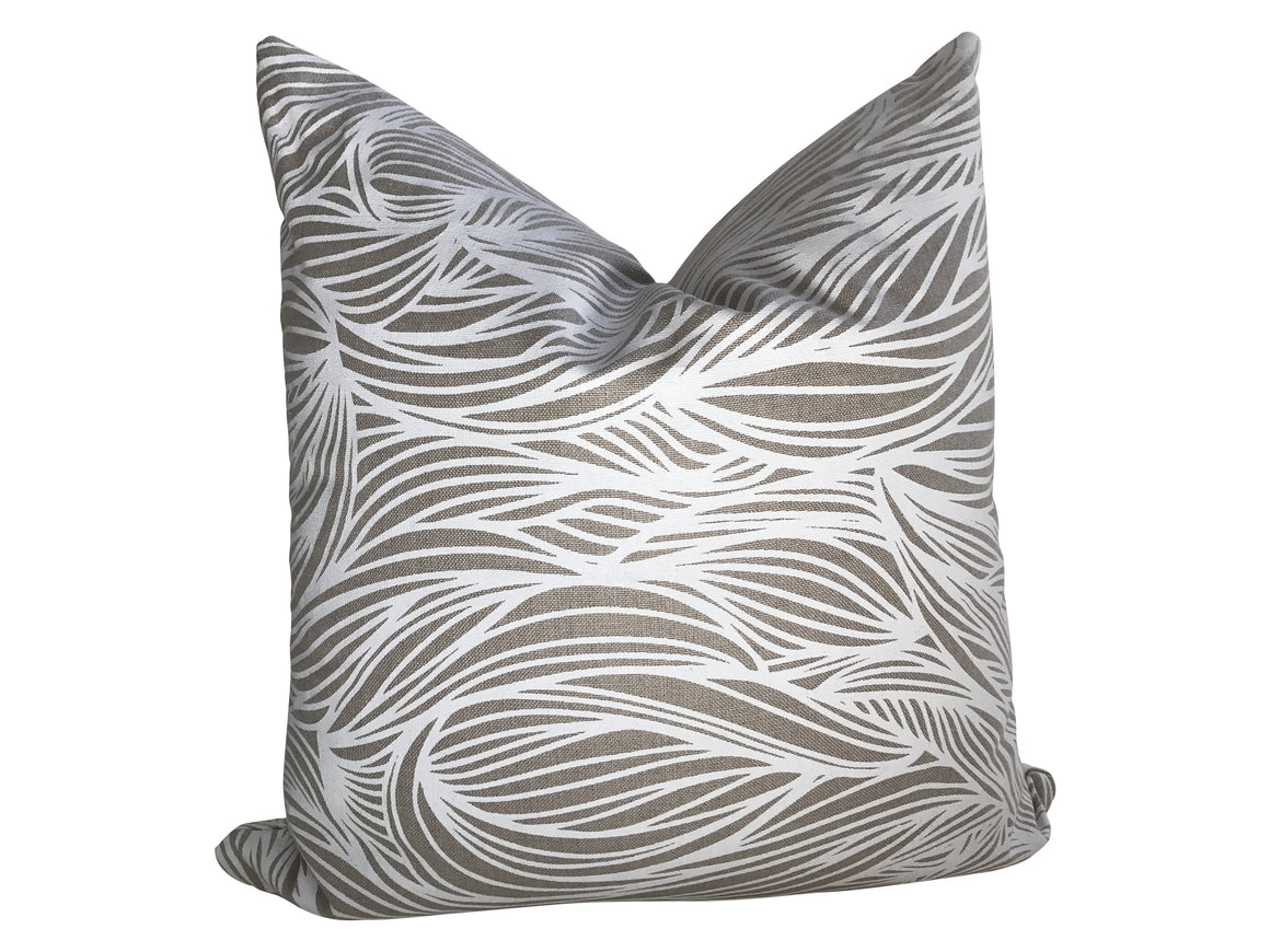Trina Pillow in White on Natural