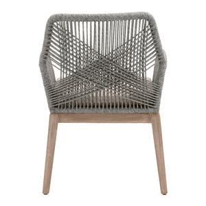 Loom Arm Chair Gray- Set of 2