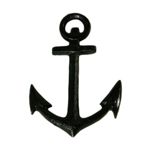 cast iron Black anchor weight greige design shop + interiors