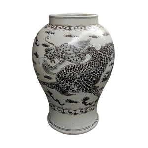 Black and white dragon jar Hong Wu flaring rim jar greige design shop + interiors