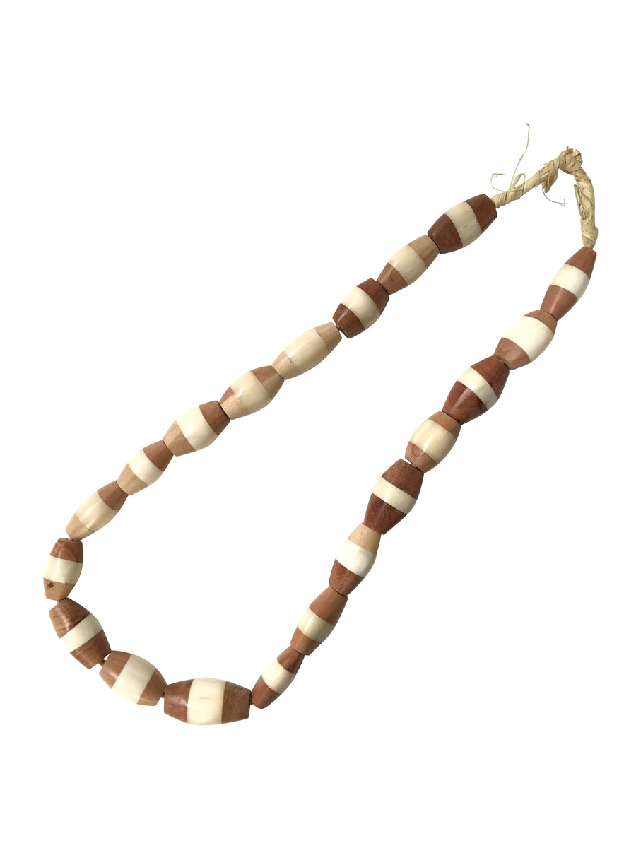 Large two-tone Wood Beads