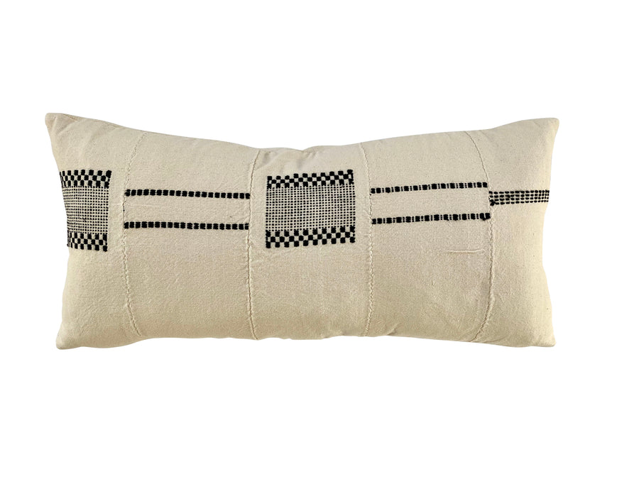 Morrison Stitched Mudcloth pillow cover