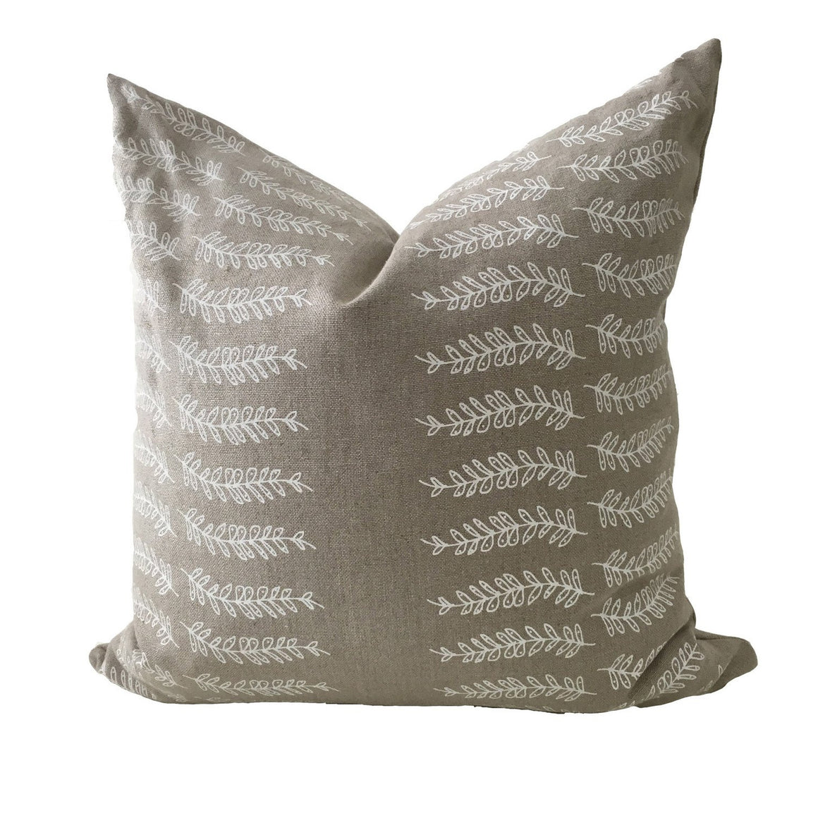 Fern Stripe pillow natural and white