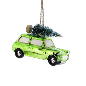 Tree shopping ornament green