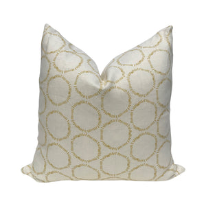 Cape pillow in Finch on Oyster linen greige textiles greige design shop + interiors