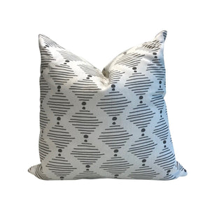 Hinkley pillow in Dove on Oyster
