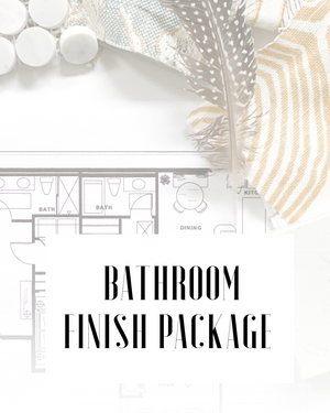 Bathroom Finish Package- E.Design