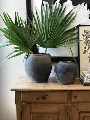 Grey Vintage Clay Pot