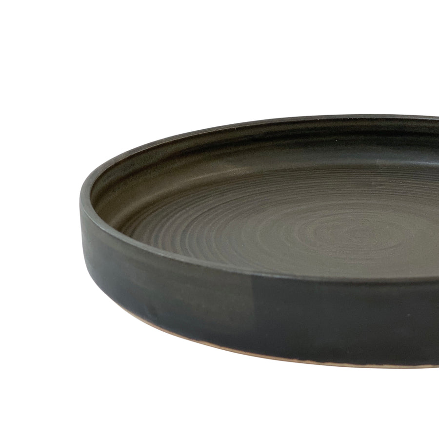 RV Pottery Modern Serving Plate Black
