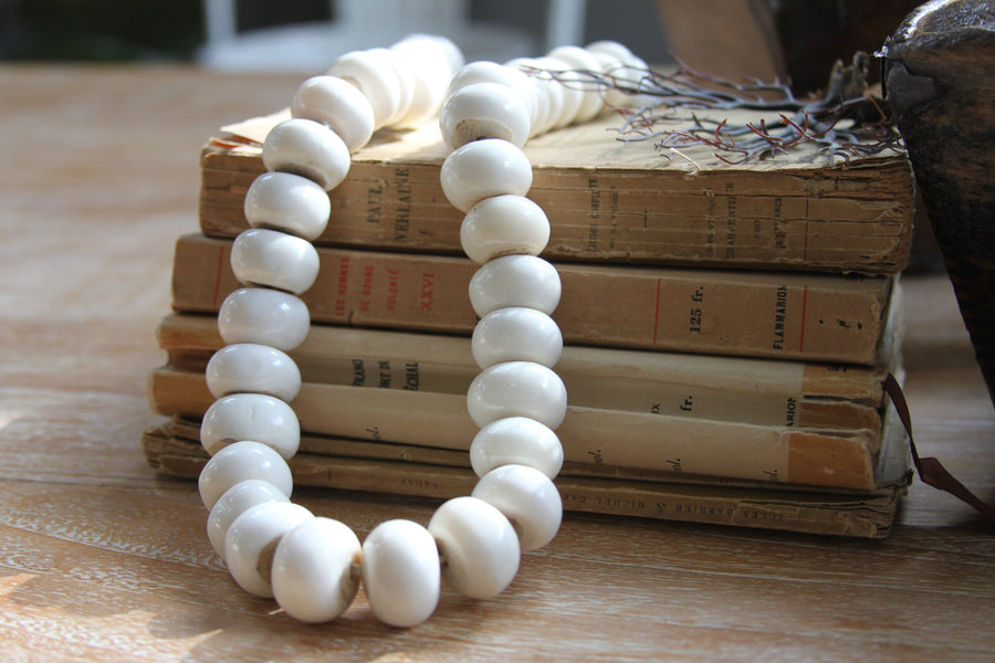 Large strand of bone beads