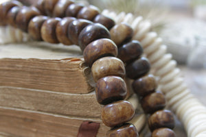 Brown bone beads greige design shop + interiors