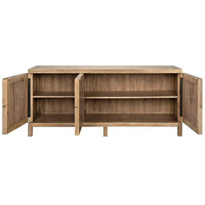 Quadrant Sideboard Walnut washed walnut finish Noir furniture 4 door griege design shop and interiors