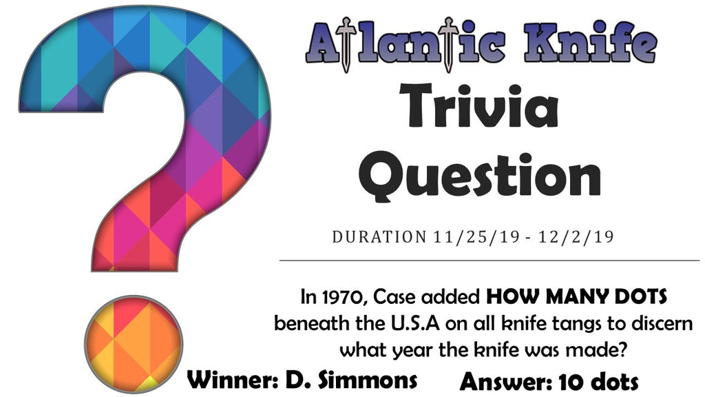 Atlantic Knife Weekly Trivia Question-Titanium Artisan Proponent Winner
