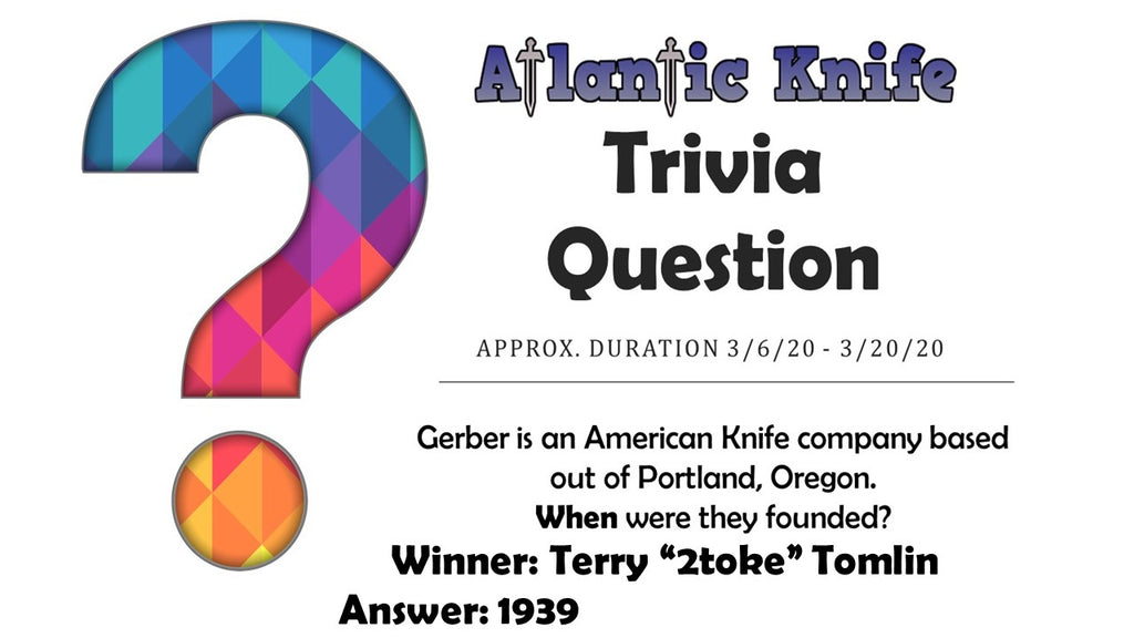 TOPS Street Scalpel 2 Knife Winner AK Blog Trivia Question Giveaway