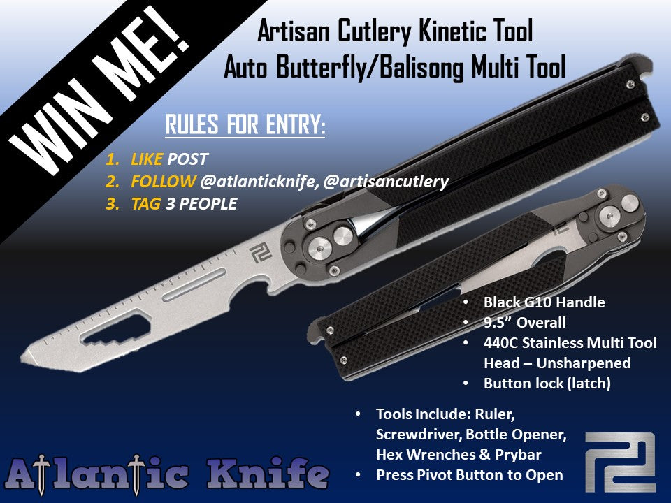 Knife Giveaway with Artisan Cutlery